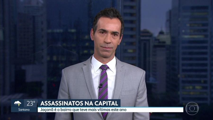 """Telejornal """"SP2"""", da Globo, erra mapa e coloca o Jaçanã, bairro da zona norte de São Paulo, no centro - Reprodução/TV Globo"""