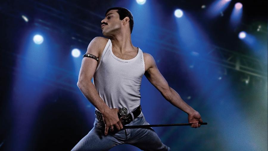 """Cena de """"Bohemian Rapsody"""" com o ator Rami Malek - Divulgação"""