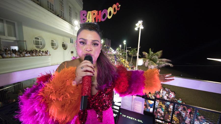 Preta Gil comanda o Bloco da Preta no carnaval de Salvador de 2018 - Felipe Panfili/Divulgação