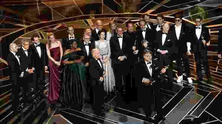 """""""A Forma da Àgua"""" foi o grande vencedor da noite, com quatro prêmios - Kevin Winter/Getty Images"""