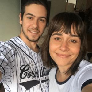 Alessandra Negrini com o filho, Antonio