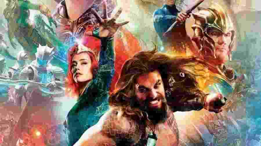 """Detalhe do novo pôster do filme """"Aquaman"""" - Reprodução"""