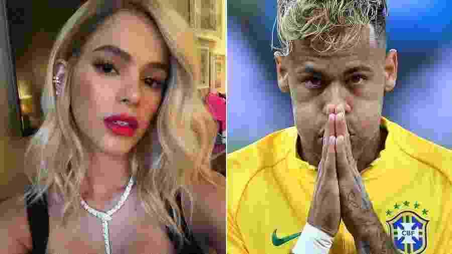 Bruna Marquezine e Neymar loiros - Montagem/UOL