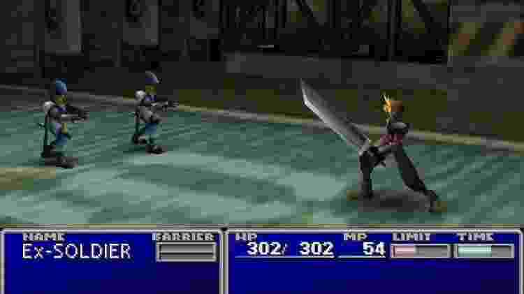 """""""Final Fantasy VII"""" é um dos jogos que estão no PS Classic. - Reprodução"""