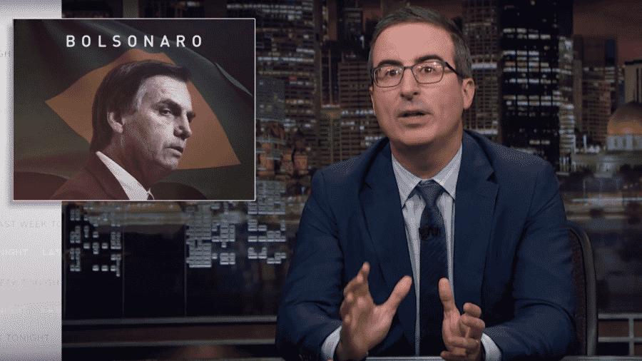 "John Oliver fala sobre Bolsonaro no ""Last Week Tonight"" - Reprodução/Youtube"