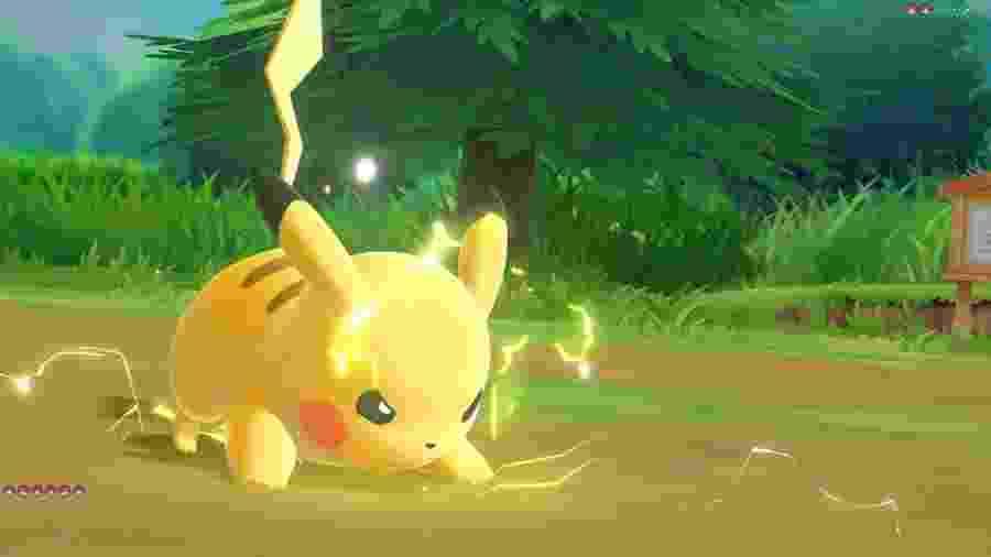 """Pikachu em """"Pokémon Let""""s Go"""" - Reprodução"""