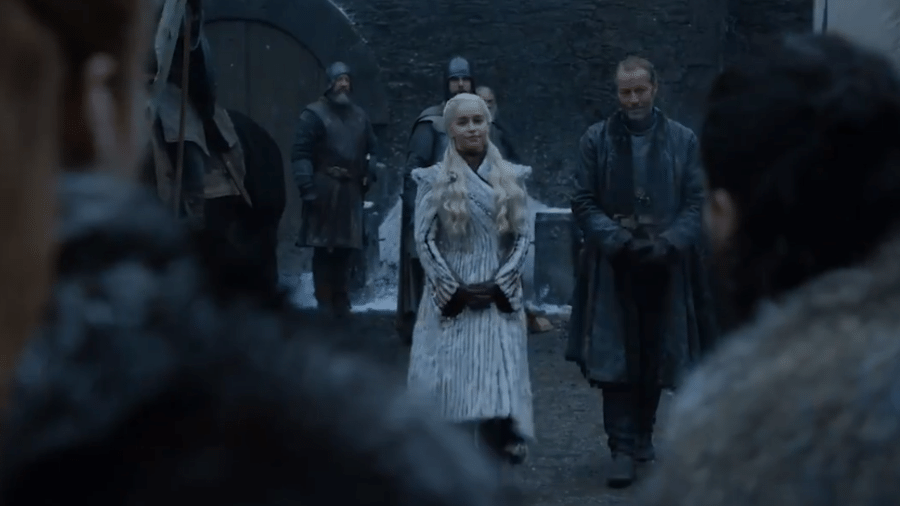 """Cena da oitava temporada de """"Game of Thrones"""" - Reprodução/Twitter"""