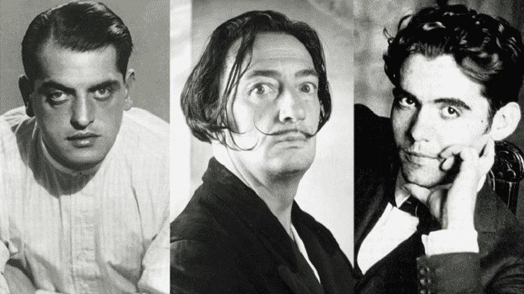 Buñuel, Dalí e Lorca - Reprodução - Reprodução