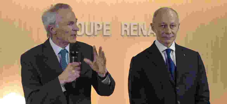 Senard (esq.) e Bolloré serão responsáveis por comandar a marca francesa - Eric Piermont/AFP