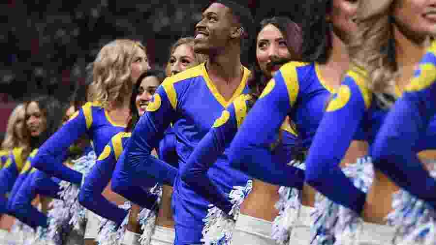 Quinton Peron, líder de torcida dos Los Angeles Rams - AFP