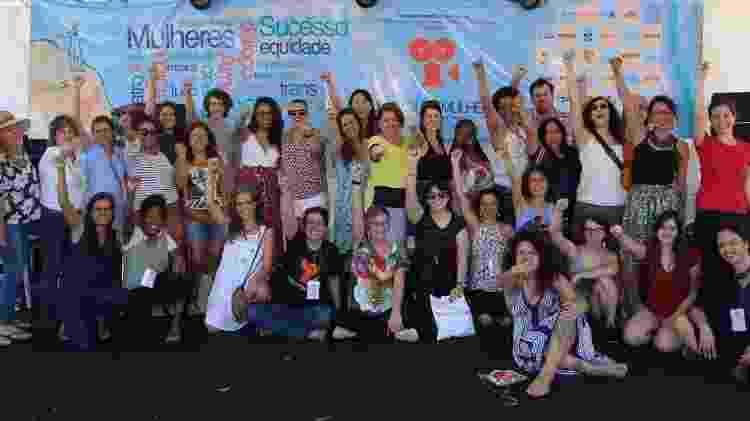 Grupo que participou do festival Tudo Sobre Mulheres em 2018 - Reprodução/Facebook - Reprodução/Facebook