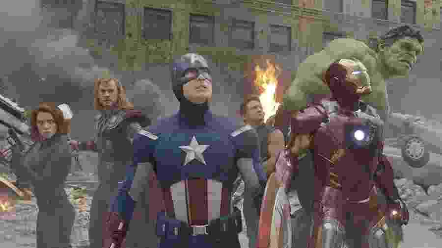 """Os heróis em cena de """"Os Vingadores"""" - Divulgação"""