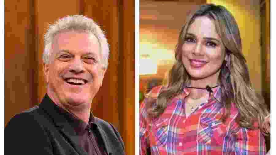Pedro Bial e Rachel Sheherazade - Divulgação