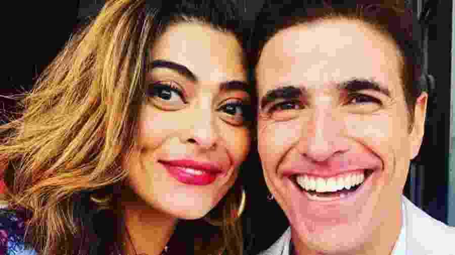 Reynaldo Gianecchini mostra Juliana Paes de batom borrado após cena de beijão em A Dona do Pedaço - Reprodução/Instagram