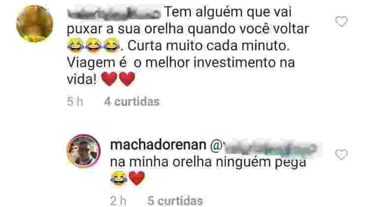 Renan Machado, irmão de Anitta, responde seguidora e limita comentários - Reprodução/Instagram