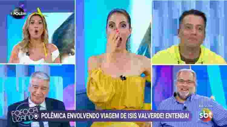 """Lívia Andrade """"incendeia"""" discussão entre Leão Lobo e Leo Dias no Fofocalizando - Reprodução/SBT - Reprodução/SBT"""