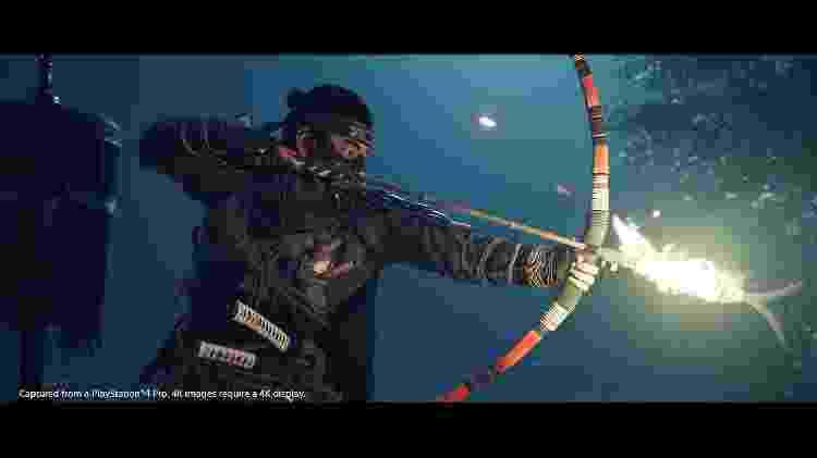 Ghost of Tsushima arco e flecha  - Divulgação/Sony - Divulgação/Sony