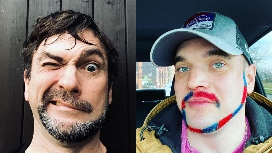 Os homens estão compartilhando nas redes os novos visuais inusitados - Reprodução/Instagram/@pete_thegardener/jcjbentley86