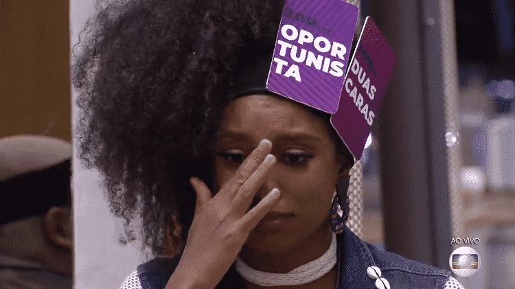 Lumena chora no jogo da discórdia do BBB 21 - Reprodução/Globoplay - Reprodução/Globoplay