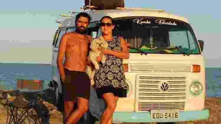 Bruno, Mari e a primeira companheira da Kombi da Felicidade, Jenny - Reprodução/Instagram - Reprodução/Instagram