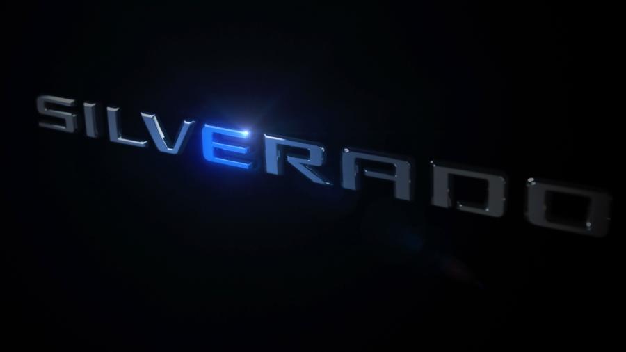 Teaser Chevrolet Silverado elétrica - Divulgação