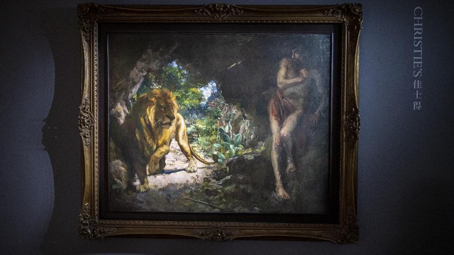 """A pintura """"Escravo e Leão"""", de Xu Beihong, pode conseguir até R$ 320 milhões em leilão - Getty Images"""