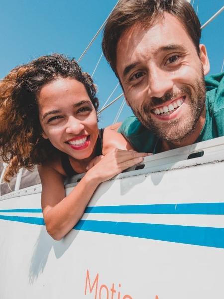 Marina e Michel moraram em barcos durante 3 anos - Acervo pessoal
