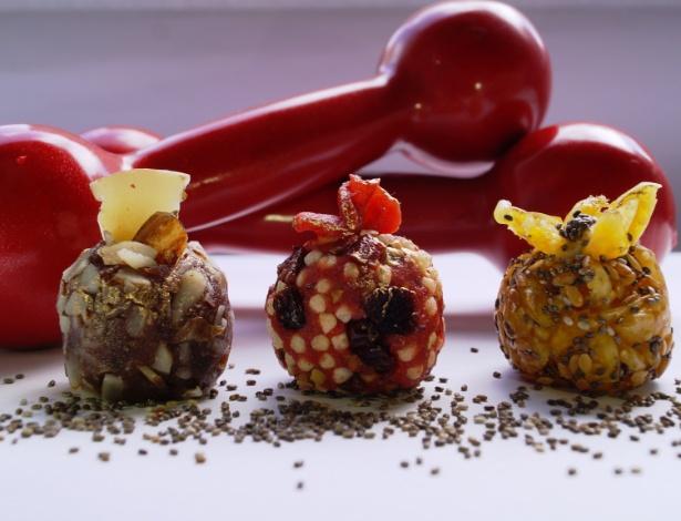 Da Louzieh Doces: goji berry com chia, cranberry com morango e tâmara com castanha-do-pará  - Divulgação