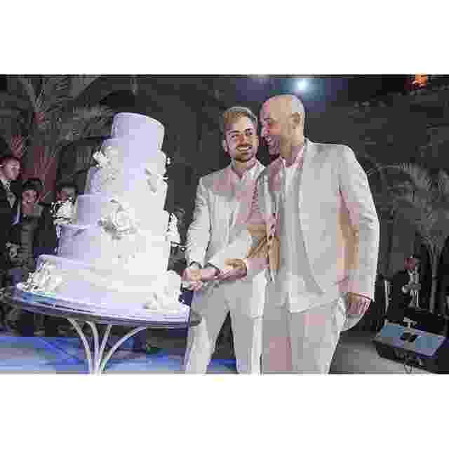Paulo Gustavo e  Thales Bretas se casaram depois de um ano de namoro em uma festa badalada no Rio - Reprodução/Facebook/Paulo Gustavo