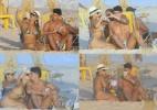 Ao lado do noivo, Viviane Araújo faz selfie, beija e bebe cerveja em praia carioca - Ag.News