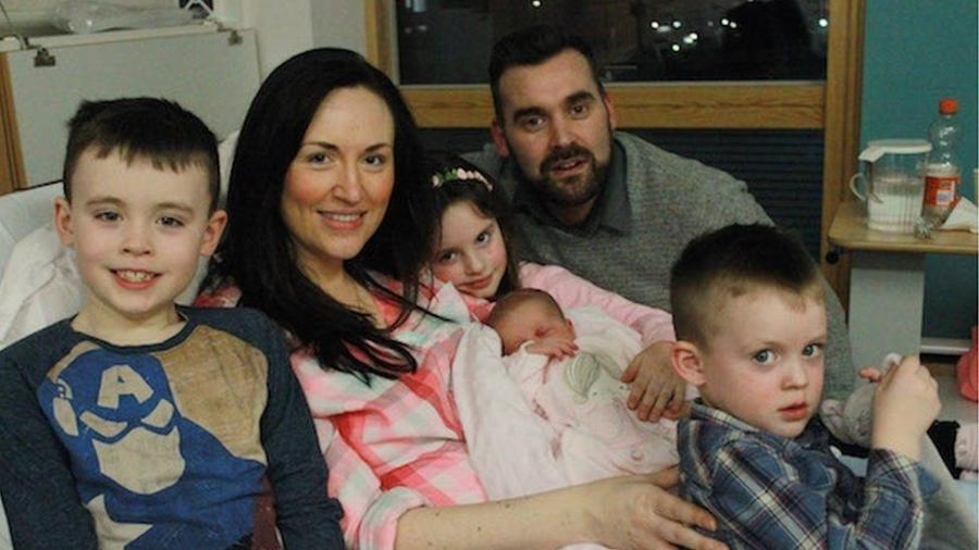 Saphia é a quarta filha do casal Paul e Georgina Doherty, da Irlanda do Norte - NWNewspix