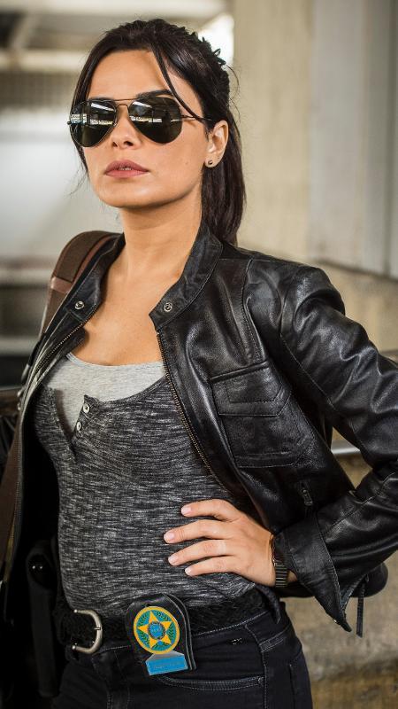 """Vanessa Giácomo como a policial Antônia, de """"Pega Pega"""" - Maurício Fidalgo / TV Globo"""