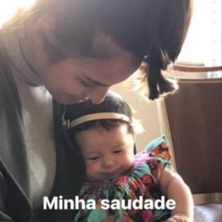 Bruno Gissoni posta foto de Yanna Lavigne com Madalena, filha dos dois - Reprodução/Instagram/brunogissoni