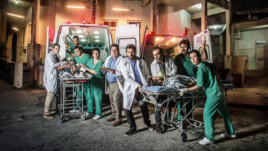 """Elenco da série """"Sob Pressão"""" - Mauricio Fidalgo/TV Globo"""