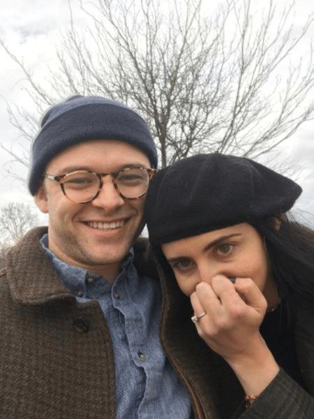 Nico Bellamy e a noiva, Caitie - Arquivo Pessoal