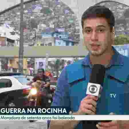 """""""Gato motoqueiro"""" roubou a cena no """"RJ2"""" - Reprodução/TV Globo - Reprodução/TV Globo"""