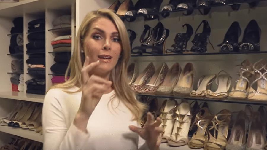 Ana Hickmann mostra coleção de sapatos - Reprodução/YouTube