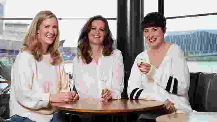 "Rachael Bland, Lauran Mahon e Deborah James apresentavam o podcast ""You, me and Big C"" - BBC - BBC"