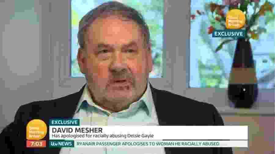 David Mesher pediu desculpas pelo que fez no voo, em entrevista a uma rede de televisão - 1)Good Morning Britain