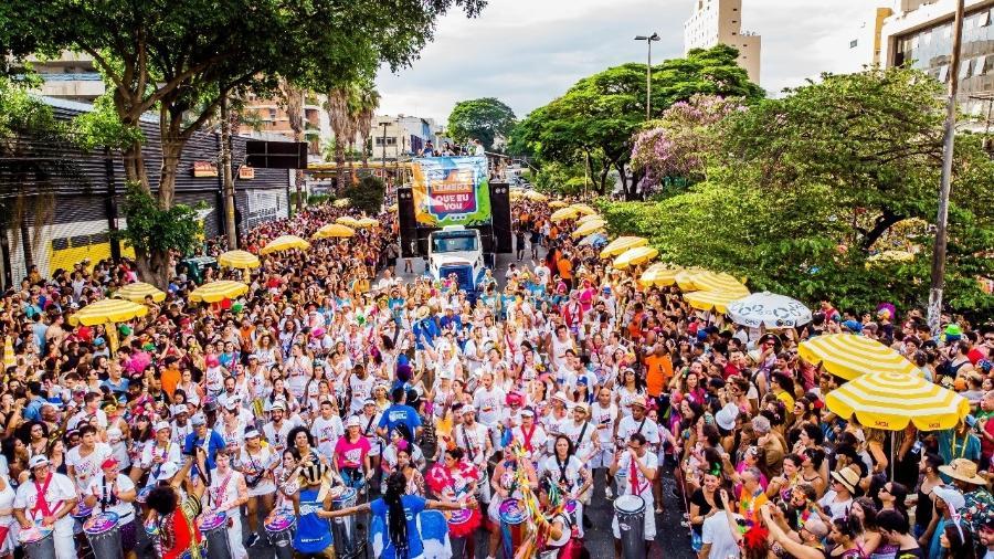 Conhecido pela bateria cheia de groove, o bloco Me Lembra Que Eu Vou desfila no Carnaval de São Paulo - Edson Lopes Jr./UOL