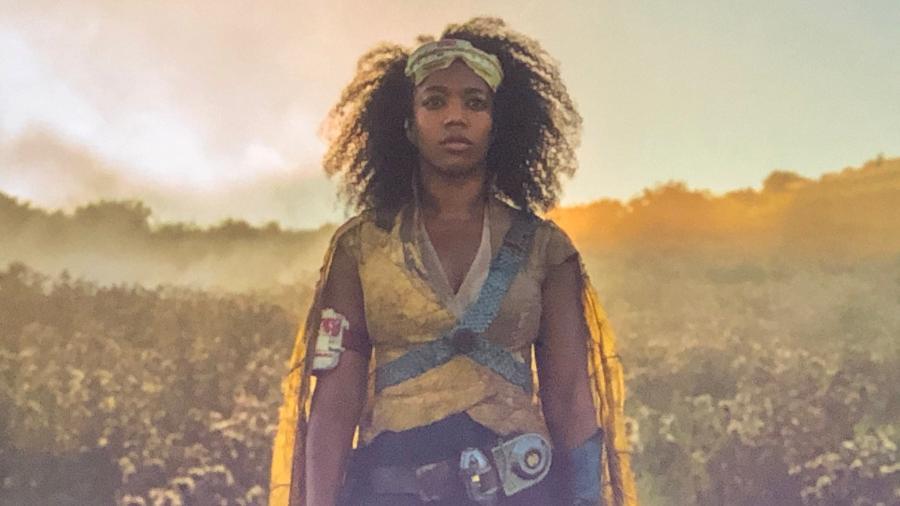 """Naomi Ackie como Jannah em """"Star Wars - Episódio IX"""" - Reprodução/Twitter"""