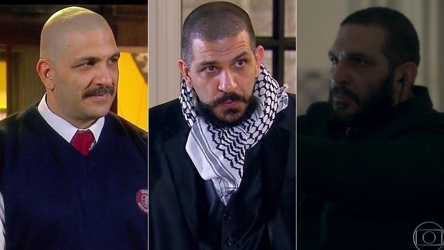 Em dose tripla na TV, ator fortão aparece na Globo e no SBT ao mesmo tempo