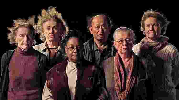Sobreviventes do experimento (da esquerda para a direita): Mary Gidley, Edna Reves, Fé Seymour, Eisuke Yamaki, Maria Björnstam e Servane Zanotti - Fasad