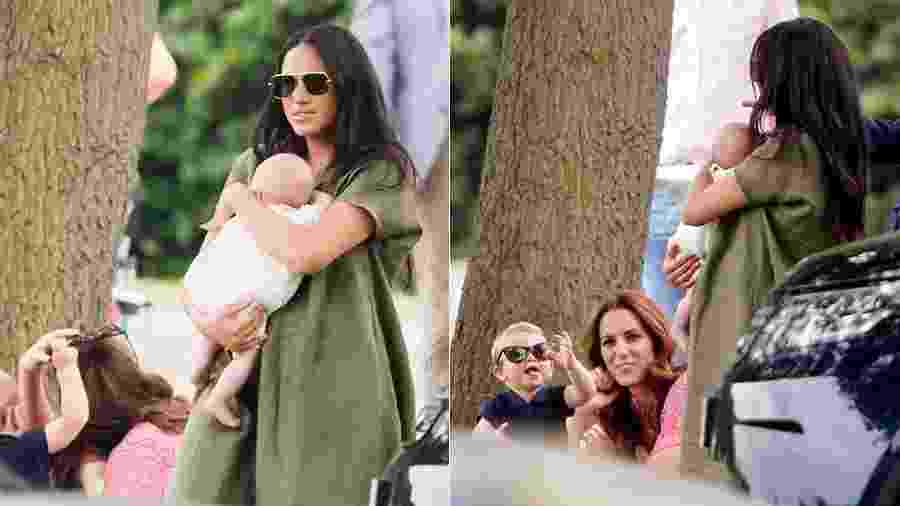 Louis, Archie, Meghan e Kate assistem a partida de pólo - Getty Images
