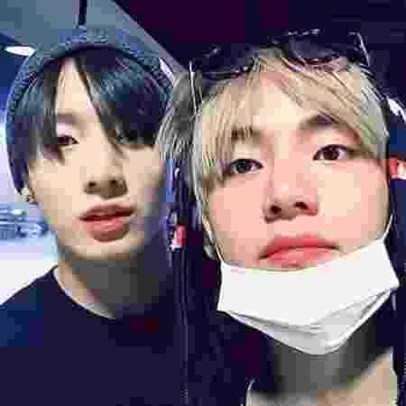 Jungkook e Taehyung, do BTS - Reprodução/Twitter
