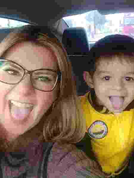 A jornalista Priscila Silvestre conta que o desfralde do filho Rafael, de 3 anos, não tem sido simples - Arquivo pessoal