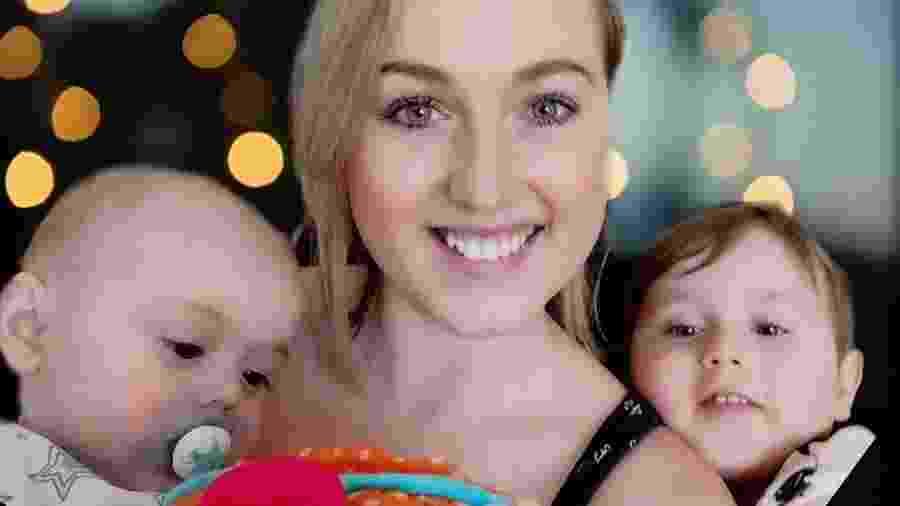 Sarah Boyle e seus filhos - Arquivo pessoal