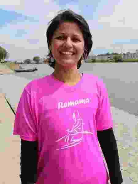 """A enfermeira Camila Jacinto, 40, é a mais jovem da equipe. """"Achei que nunca mais poderia fazer exercícios"""" - Natália Eiras/UOL"""