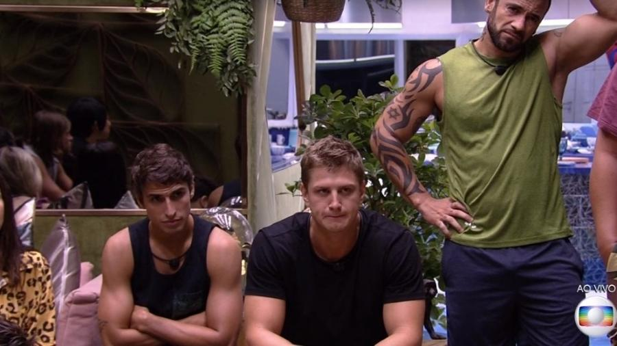 BBB20: Na terceira prova do líder Lucas, Hadson, Felipe e Daniel são vetados e não participam (Foto: reprodução/Globo)
