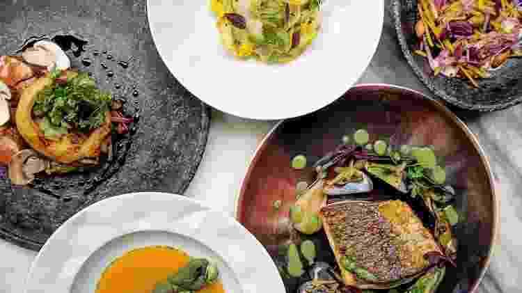 Pratos do chef Victor Dimitrow, do restaurante paulistano Petí - Reprodução/@victordimitrow - Reprodução/@victordimitrow